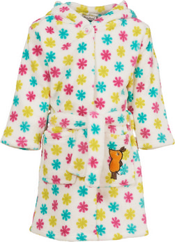 Fleece-Bademantel DIE MAUS Blumen