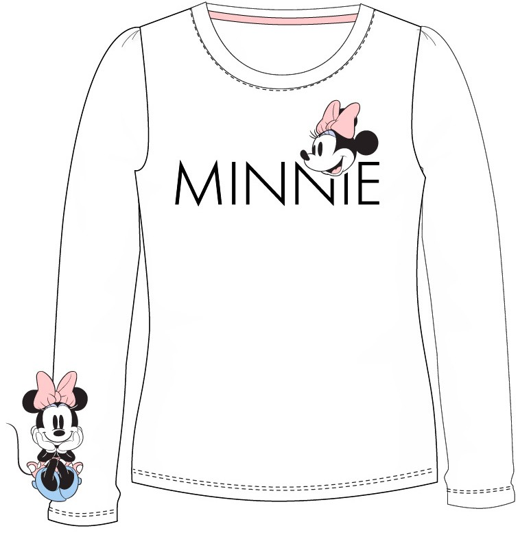 Minnie Mouse Langarmshirt in Cremeweiß